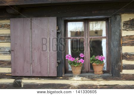 Window old cottage - Old traditional rural dwellings