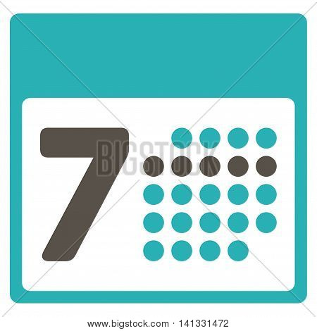 Binder Week vector icon. Style is bicolor flat symbol, grey and cyan colors, rounded angles, white background.
