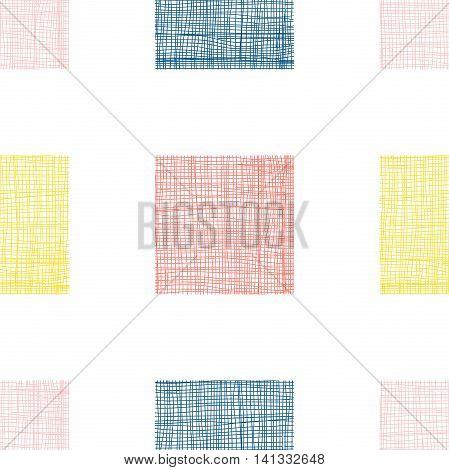 Linen Pattern With Realistic Linear Effect. Vector Illustration Clip-art Web Design Elements 10 Eps