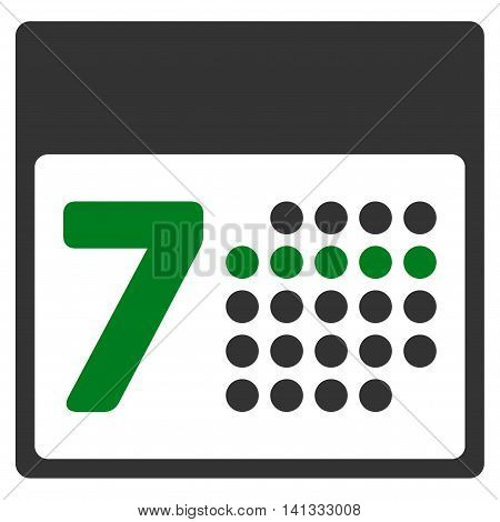 Binder Week vector icon. Style is bicolor flat symbol, green and gray colors, rounded angles, white background.