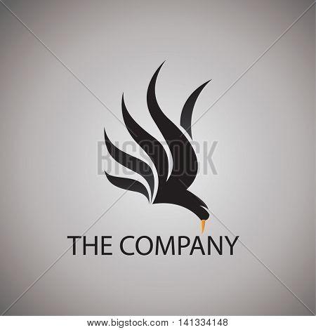hawk logo ideas design vector illustration on background