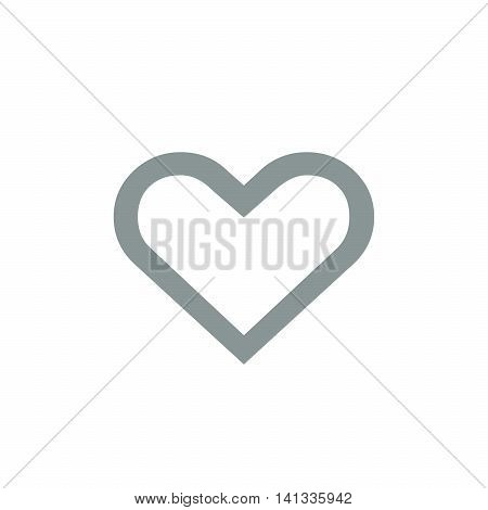 illustration of hearth symbol on white background