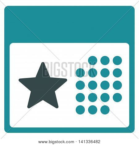 Holiday Binder vector icon. Style is bicolor flat symbol, soft blue colors, rounded angles, white background.