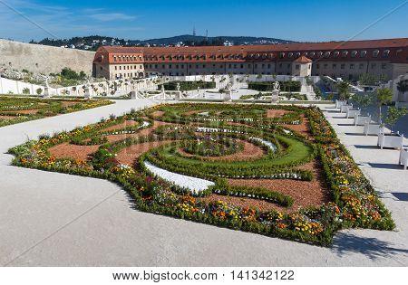 Area of the important landmark Bratislava castle Slovakia. New opened public baroque garden. Castle is part of UNESCO World Heritage. Photo taken: August 02, 2016