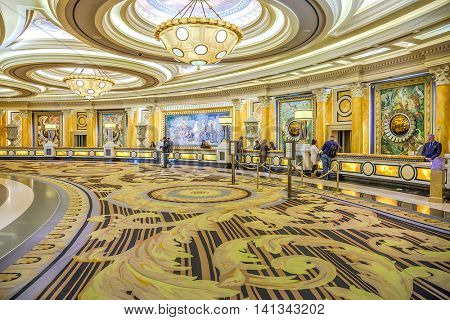 Caesars Palace, Las Vegas - January 13, 2016: Caesars Palace opened in 1966. It has 3,960 rooms with a total of 166,000 sq ft in gaming space.