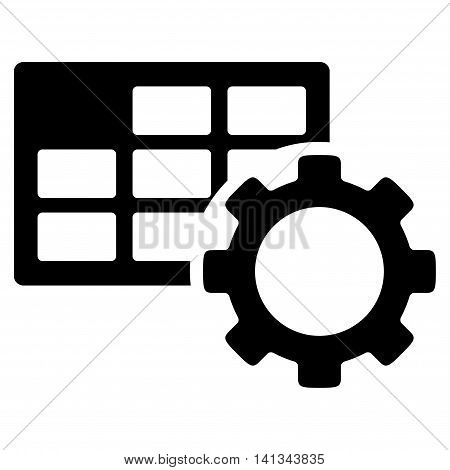 Schedule Setup vector icon. Style is flat symbol, black color, rounded angles, white background.