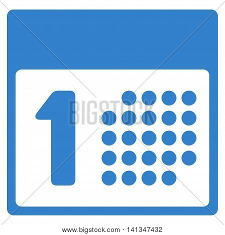 First Date vector icon. Style is flat symbol, cobalt color, rounded angles, white background.