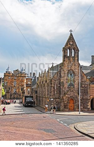 Queens Gallery And Palace Of Holyroodhouse In Edinburgh