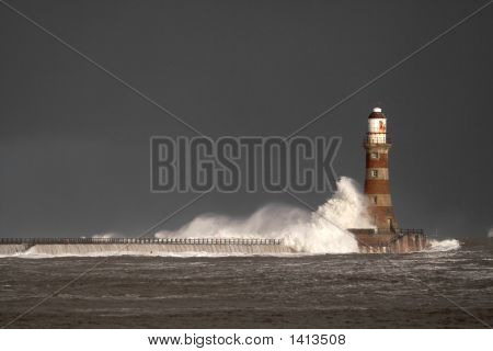 Roker Lighthouse And Pier