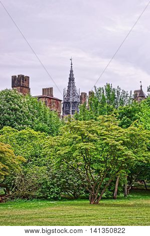 View On Main Range Of Cardiff Castle In Wales