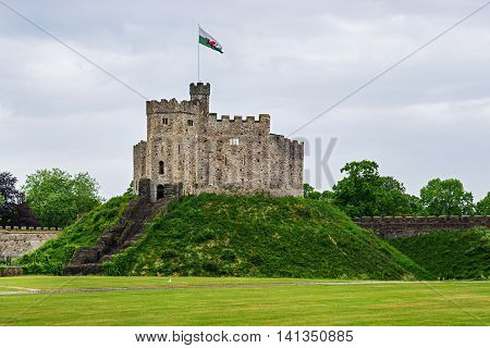 Watch Tower Of Cardiff Castle In Cardiff In Wales