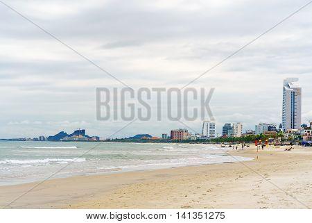 Ocean View At The China Beach In Danang In Vietnam