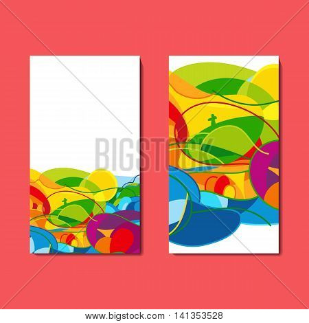 Set of flyers with abstract background. Vector Illustration