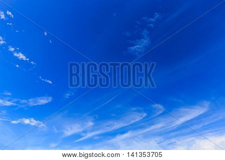 Beautiful blue sky with clouds in rainy day