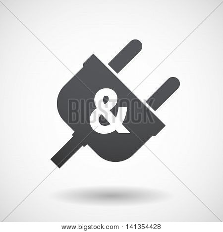Isolated Male Plug With An Ampersand