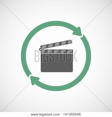 Isolated Reuse Icon With A Clapperboard