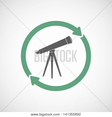 Isolated Reuse Icon With A Telescope