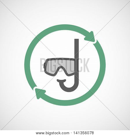Isolated Reuse Icon With A Diving Goggles