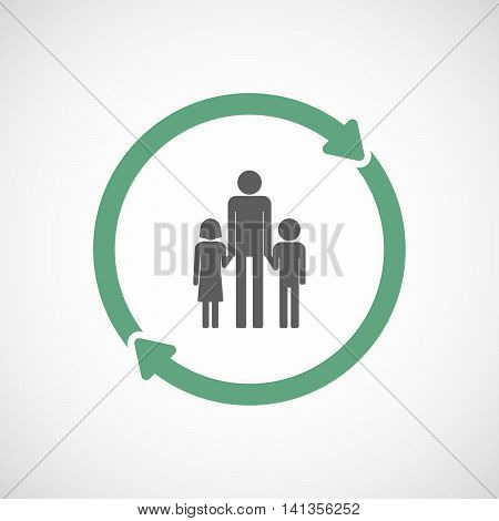 Isolated Reuse Icon With A Male Single Parent Family Pictogram
