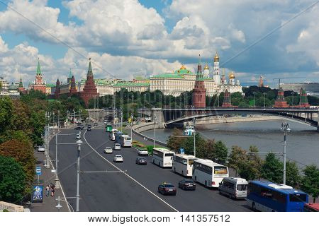 Moscow - August 04, 2016: Moscow Kremlin. Red Square.