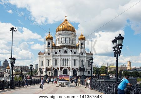 Moscow - August 04, 2016: Cathedral Of Christ The Saviour. Moscow