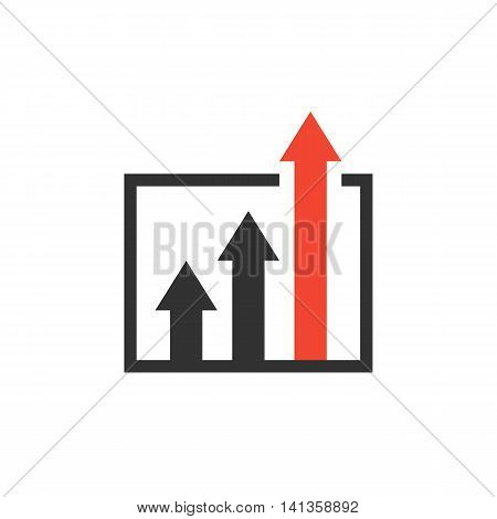 advantage icon. business growth concept. isolated on white background. vector illustration