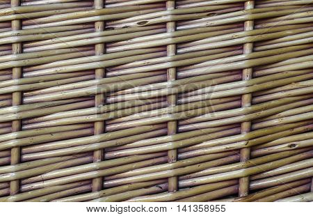 basket wicker texture crisscrossed pattern in detail violet brown
