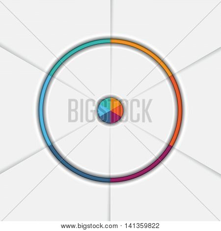 Template Infographic Six position Area chart Ring chart Pie chart