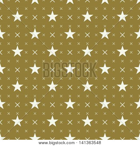 Celebrative vector endless pattern created with pentagonal stars seamless composition.