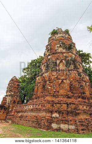 Wat Phra Mahathat In Ayutthaya, Thailand