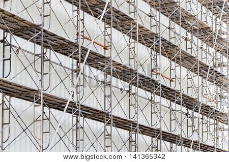 scaffolding for construct a building under construction.