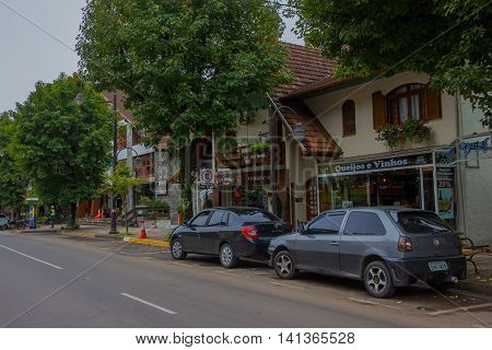 GRAMADO, BRAZIL - MAY 06, 2016: small town in the south of brazil with a lot of german and italian influence.