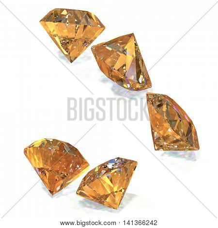 Great and expensive diamonds 3d rendering