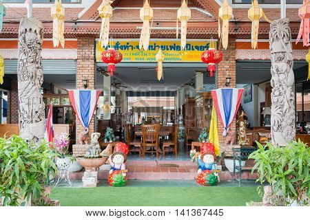 Baan Tawai Village Has Traditionally Been The Center Of The Handicrafts Trade In Northern Thailand