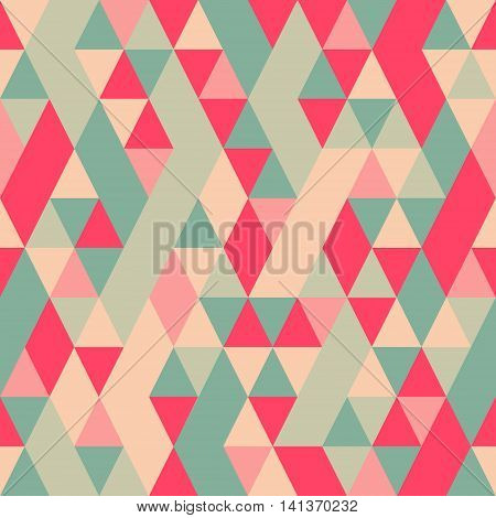 Seamless Colorful Abstract Triangles Pattern.