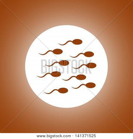 Sperm Icon. Flat Design Style.