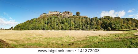 A panorama of Stirling Castle, Scotland.
