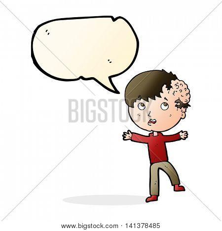 cartoon medical emergency with speech bubble
