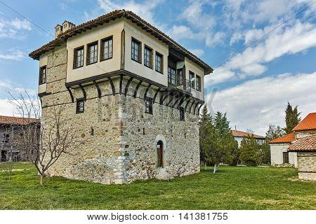 Amazing view Tower of Angel Voivode in Arapovo Monastery of Saint Nedelya, Plovdiv Region,  Bulgaria