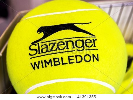 LONDON,THE UK-MAY 2016: Official Wimbledon ball in the store