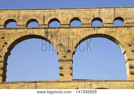 Pont du Gard, Roman aqueduct in southern France near Nimes