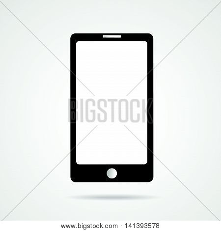 realistic white  vector smartphone illustration eps 10