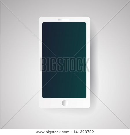 white realistic vector smartphone illustration. eps 10