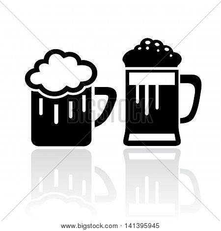 Glass of beer icon isolated on white background