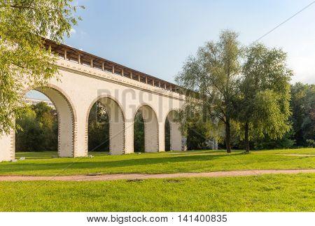 Aqueduct Bridge In Moscow Park
