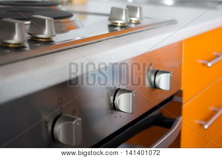 Close-up Of Modern Electric Cooker