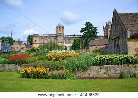 Garden in front of Christ's College, Oxford