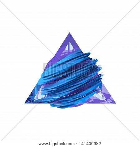 Creative abstract field inside a glass triangle
