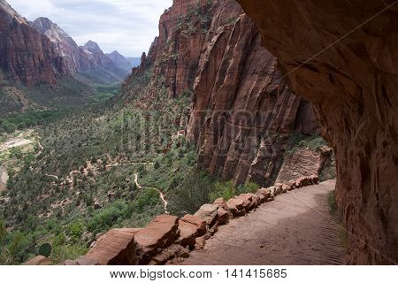 The view from Angels Landing in Zion National Park