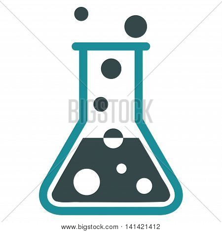 Boiling Liquid vector icon. Style is bicolor flat symbol, soft blue colors, rounded angles, white background.